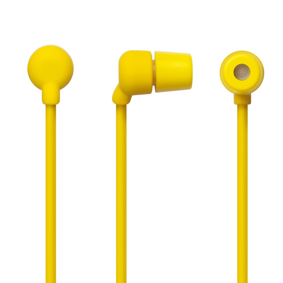 AIAIAI Swirl Earphone w/Mic - Yellow w/Grey Plug