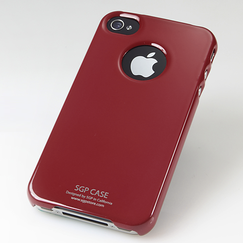SGP iPhone 4 Case Ultra Thin m/ Screen Protector - Vinrød