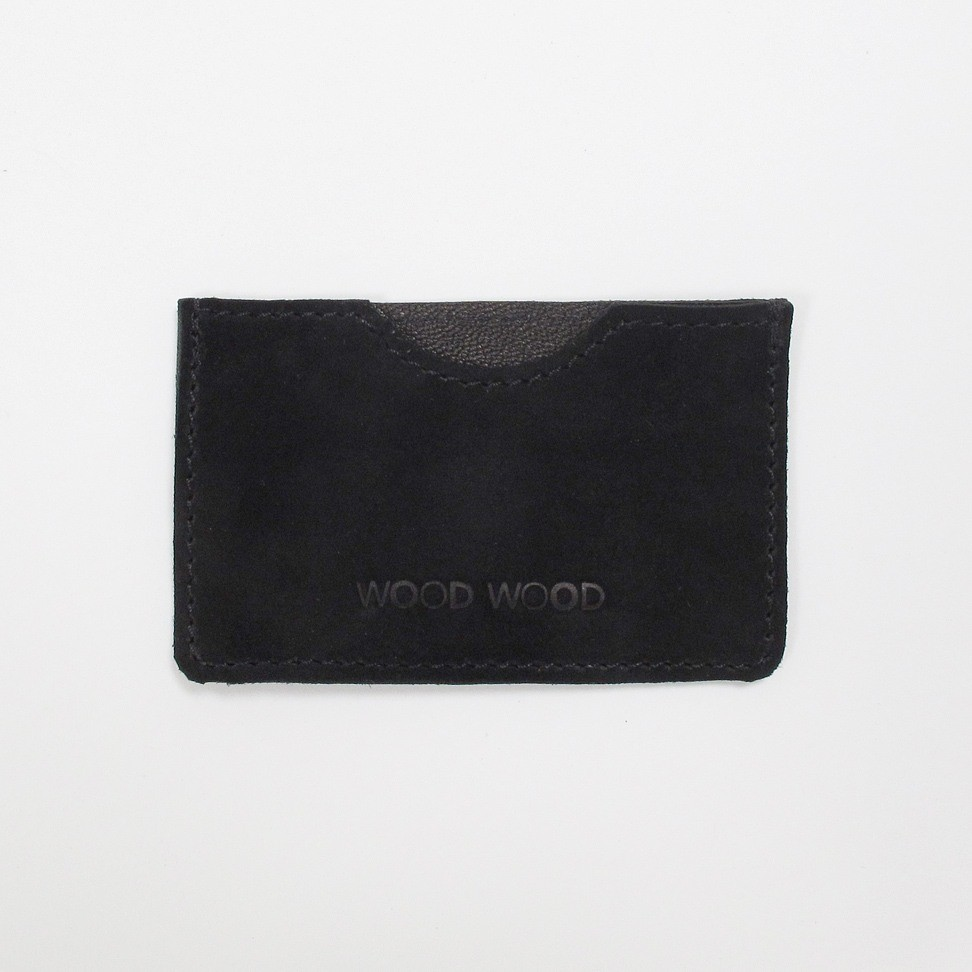 Wood Wood Credit Card Sleeve Ruskind - Sort