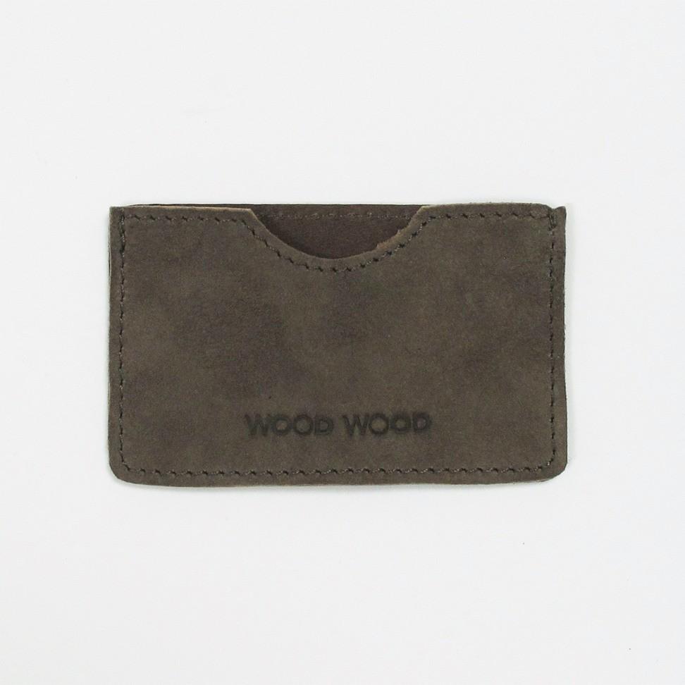Wood Wood Credit Card Sleeve Ruskind - Grå