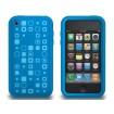 XtremeMac Tuffwrap Tatu iPhone 3G/3GS Inkl. Skærmfolie + Stand - Blå Squares