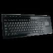 Logitech Cordless MediaBoard Pro til bl.a. PS3 m/ Pegefelt - Sort