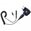 Covertec GPS & Mobil USB Oplader 220V m. Mini USB Kabel - Sort