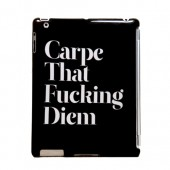 Carpe That F... Diem Bagcover til iPad (Kompatibel m. Smartcover) - Sort