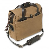 "Filson Large Briefcase / Computer Case Op til 16"" - Dark Tan"