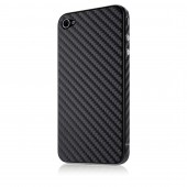Belkin Carbon Fiber Sticker til iPhone 4/4S - Sort