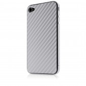 Belkin Carbon Fiber Sticker til iPhone 4/4S - Sølv