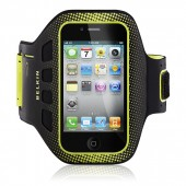 Belkin Easefit Sport Løbearmbånd til iPhone 4S / 4 / 3GS / 3G / Touch - Sort & Gul