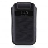 Belkin Pull Tab Verve Læder Etui til iPhone 4 - Sort