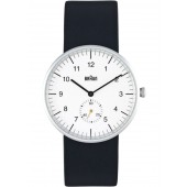 Braun Sort Læder Armbåndsur BN0024WHBKG - Hvid