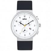 Braun Sort Læder Chronograph Armbåndsur BN0035WHBKG - Hvid