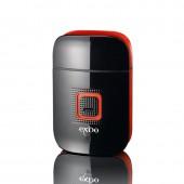 Exido Care Genopladelig Elektrisk Rejse Shaver USB - Sort/Rød