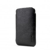 Knomo iPhone 3G/3GS/4/4S Slim Læder Sleeve - Sort