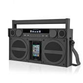iHome iP4 Portable FM Stereo Boombox til iPhone/iPod - Sort