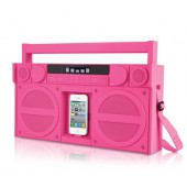 iHome iP4 Portable FM Stereo Boombox til iPhone/iPod - Pink