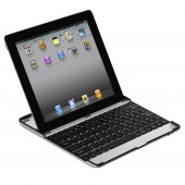 Ultra Tynd Aluminium Keyboard Case til iPad Med ÆØÅ - Sort
