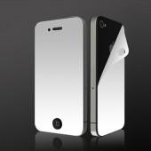 Display Beskyttelsesfilm til iPhone 4 med Spejl Effekt - Front & Bagside