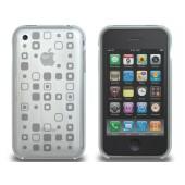 XtremeMac Microshield Tatu til iPhone 3G/3GS Inkl. Skærmfolie + Stand - Klar Squares