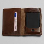 P.A.P iPhone Læder Pung m/ Kortholder - Brun