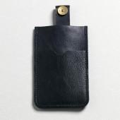 P.A.P Læder Etui m/ Kortholder & Neckband til Bl.a. iPhone - Sort