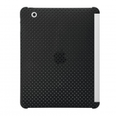 iPad 2 Perforeret Snap On Backcover Kompatibel med Smartcover - Sort