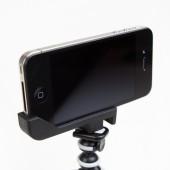 Sidekic Tripod Mount & Stand til iPhone 4S / 4 - Sort