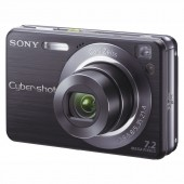 Sony Cyber-shot DSC-W120 Kompakt Digital Kamera - Sort
