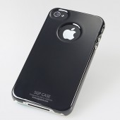 SGP iPhone 4 Case Ultra Thin m/ Screen Protector - Sort