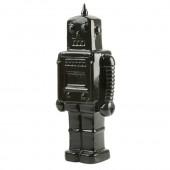 PresentTime Robot Sparebøsse i Keramik - Sort